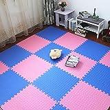 LUYIASI- 60x60x1.2cm Salon Chambre Enfants Enfants Tapis Doux Magic Patchwork Jigsaw Splice Têtes Escalade Bébé Tapis blanket (Color : C, Size : 9 pieces)...