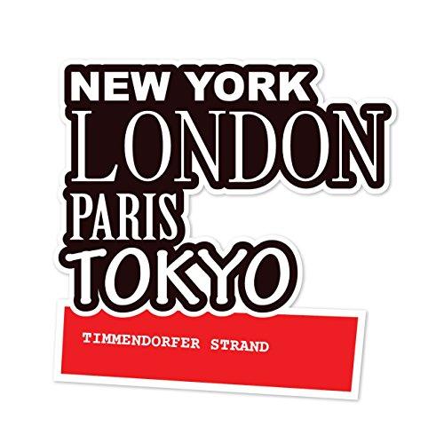 Preisvergleich Produktbild JOllify Aufkleber - TIMMENDORFER STRAND – Farbe: Design: New York, London, Paris, Tokyo