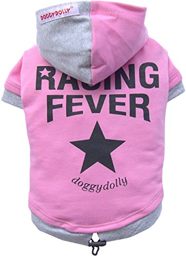 Doggy Dolly W256 Kapuzenshirt für Hunde Race, rosa, Größe : S