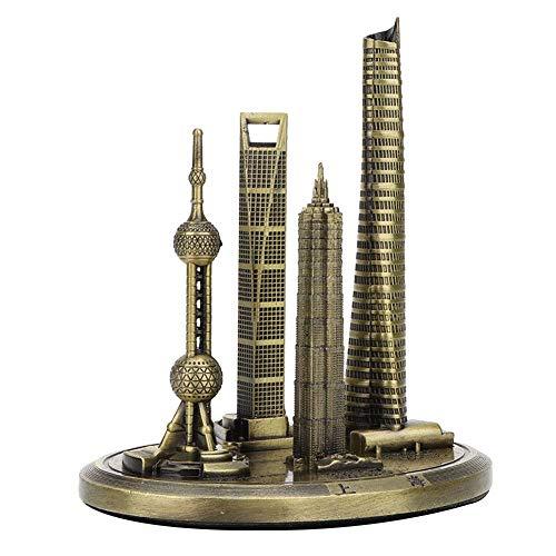 Hilitand Gebäudemodell Shanghai Oriental Pearl Tower Gebäudemodell Shanghai Global Financial Center Building Kit(#1) -