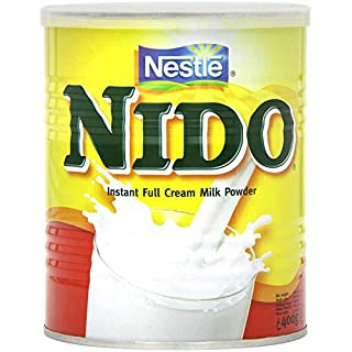 Nestle Nido Full Milk Powder - Instant Cream for Coffee & Tea Beverages with Added Vitamins & Minerals & No Added Preservatives or Colours - 400g Tin
