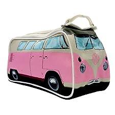 Genuine Volkswagen Split Windscreen VW Campervan Camper Van Washbag Wash Bag Travel Bag – Pink