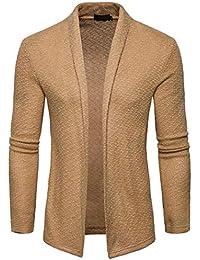 Cardigan Hombre Primavera Otoño Manga Larga Slim Fit Color Splicing Niñas Ropa Vintage Casual Cómodos Rebecas Chaqueta De Punto Jersey Suéter