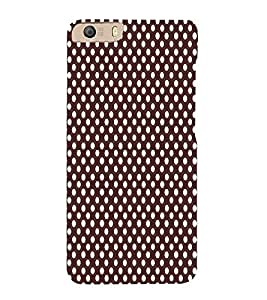 Maroon Dots 3D Hard Polycarbonate Designer Back Case Cover for Micromax Canvas Knight 2 E471