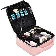 43feae249 DTBG Mochila de Maquillaje profesional Bolsa de Maquillaje impermeable para  Hombres y Mujeres Organizador de Cosméticos