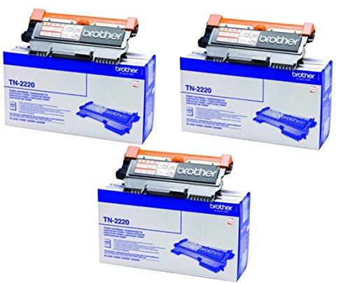 Brother TN2220 Toner Cartridge, Triple Pack je mit 2600 Seiten -