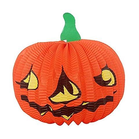 3 pièces Halloween décoratif Hanging/potiron lanternes, 37*22 cm