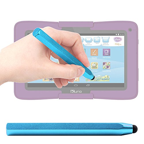 DURAGADGET Lápiz Stylus/Puntero Azul Para Cefatronic Clan Tablet Edición Motion - Hecho De Aluminio - Ligero