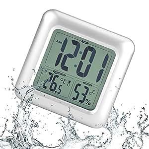Horloge tanche digitale horloge de bain led r veil for Reveil de salle de bain