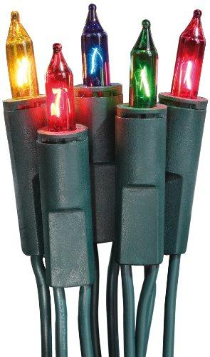 Hellum 832075 Lichterkette 20 Pisellokerzen bunt / 5,85 m / innen / Zuleitung 2x1,5 m grün