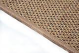 Flachgewebe Teppich Sahara Läufer - versandkostenfrei robuste Kunstfaser in Sisal-Optik | schadstoffgeprüft pflegeleicht und strapazierfähig | dekorativ Wohnzimmer Schlafzimmer Büro Flur Diele, Farbe:Cognac, Größe:80 x 300 cm