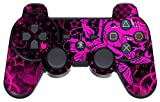 GameXcel  Sony PS3 Controller Pelle - Play Station 3 Joystick Decalcomania - Custom Playstation 3 del vinile a distanza Sticker - Pink Butterfly [Controller non incluso]
