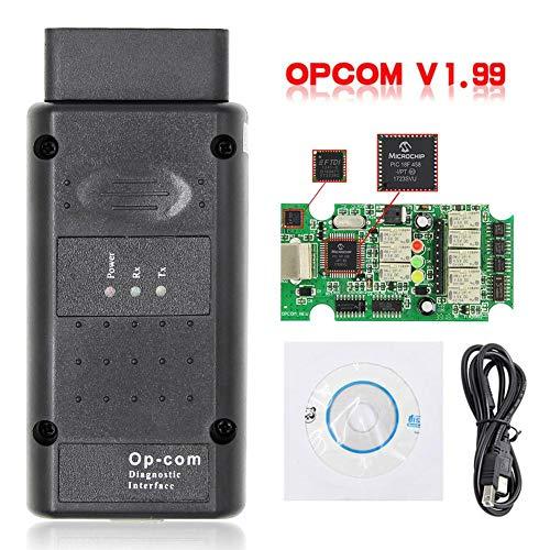 terferein Kfz-Fehlerdiagnosegerät für OPCOM 2014V V1.99 Diesel-LKW-Diagnosetester Werkzeug NEXIQ2 USB-Link NEXIQ-Fehlerdiagnosetester mit Bluetooth USB für Opel