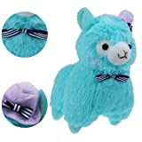 """KSB 7.3"""" Blue Bow Tie And Hat Plush Alpaca,100% Plush Stuffed Animals Doll Toys,Best Birthday Gifts For The Children Kids"""