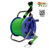 #8: Aquahose Garden Water Pipe Hose Reel 30 Mtr (100 Feet) (Hose Connector With Tap Adapter, Butterfly Clamp & Bead Chain To Tighten) Water Hose