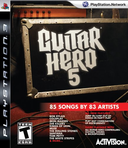 Activision Guitar Hero 5, PS3 PlayStation 3 Inglés vídeo - Juego (PS3, PlayStation 3, Música, T (Teen), Inglés, RedOctane, 11/09/2009)