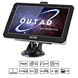 OUTAD 7 Zoll GPS Navi Navigation für Auto LKW PKW,8GB Speicher Lebenslang Kostenloses Kartenupdate Windows CE System Kapazitiver Touchscreen