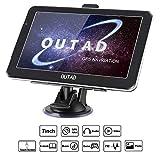 OUTAD 7 Zoll GPS Navi Navigation für Auto LKW PKW,8GB Speicher Lebenslang Kostenloses Kartenupdate Windows CE System Kapazitiver Touchscreen