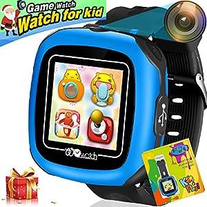 Kinder Smartwatch Telefon Spiel SmartWatches für Kid Smart Uhren Kamera Spiele Touch-Toys Cool Watch Geschenke für Mädchen Jungen Kinder (Pink)