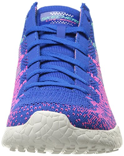 Skechers Burst Damen Laufschuhe Blue/Hot Pink