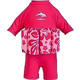Konfidence Badeanzug mit Schwimmhilfe 1-2 Jahre Rosa - Pink Hibiscus