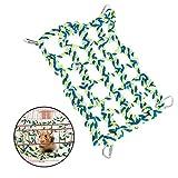 ASOCEA Hamster Klettern Baumwoll Seil Netze Kleine Tier hängenden Hängematte mit 4 Haken für Käfig Ratten Chinchillas Frettchen Vögel