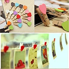Brown leaf 30-Piece Wooden Clip Mini Craft Photo Hanging Spring Clips