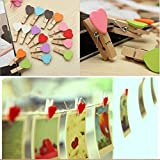 Brown Leaf 30 PCs Different Colors With Different Design Cute Wooden Clip Mini Craft Wooden Pegs Photo Hanging Spring Clips Pinch,wooden Clips For Wedding Party Decorations