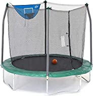 Skywalker Unisex Child Jump N Dunk Round Trampoline w/Basketball Hoop - 8 foot