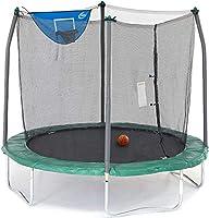 Skywalker Unisex Child Jump N Dunk Round Trampoline w/Basketball Hoop - 8 foot