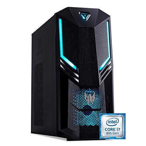Acer Predator Orion 3000 (PO3-600) Desktop PC (Intel Core i7-8700, 16GB RAM, 1000GB HDD, 128GB SSD, NVIDIA GeForce GTX 1060, Win 10) schwarz/blau