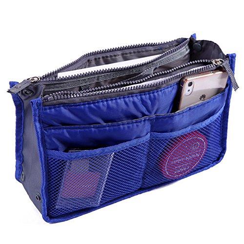 Ducomi® Handtaschen-Organizer mit 13 großen Taschen: Dokumente, Telefon, Make-up, Schlüssel an Ihren Fingerspitzen (Green) Blue