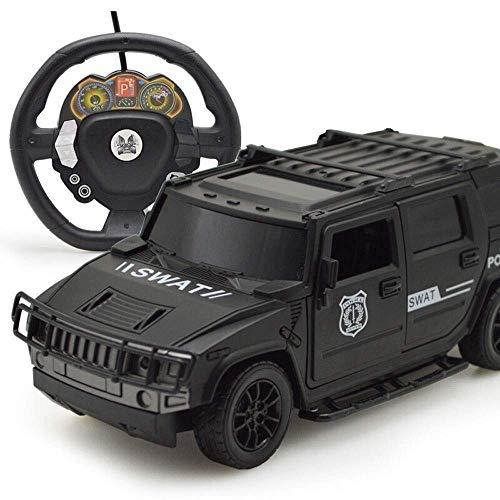 Wesxm 1:10 Maßstab Hohe Simulation SWAT Auto Federung Stoßdämpfung Fernbedienung Geländewagen 2WD Hohe Leistung Ferngesteuertes Auto mit Schwerkraftmessung Lenkrad