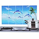 #6: Ruon DealsTM Kitchen Wall Stickers Art Accessories Water Proof, Oil Proof and Hot Proof Aluminum Foil (1 Pc, Large Size, Assorted Designs)