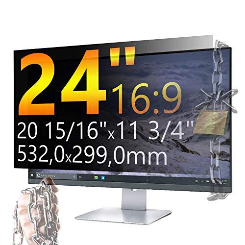 Xianan 24 Zoll 16:9 Breitbild Displayfilter Bildschirmfilter 20,94x11,77zoll/532x299mm Displayschutz Blickschutzfolie Sichtschutzfolie Privacy Filter