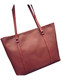 Tongshi Bolso de la manera del totalizador de las mujeres bolsos de gran capacidad del bolso de cuero del hombro