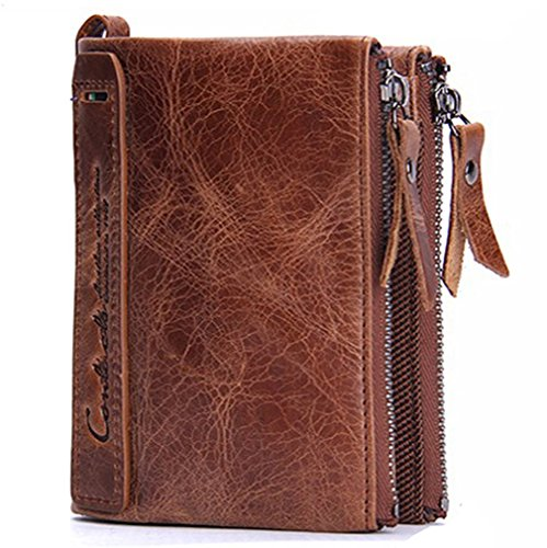 Wallet Leather Mens Card Holder,Wallet Card Men Casual Fashion Removeable Card Holder Men Leather Wallet with Coin Pocket 90g Polyester Lining Leather Wallet for ID Card Credit Card Brown GH61