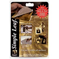 Speedball Art Products-Mona Lisa Simple Leaf in metallo, 5,5 cm x 5,5 cm, 18 kg, colore: oro