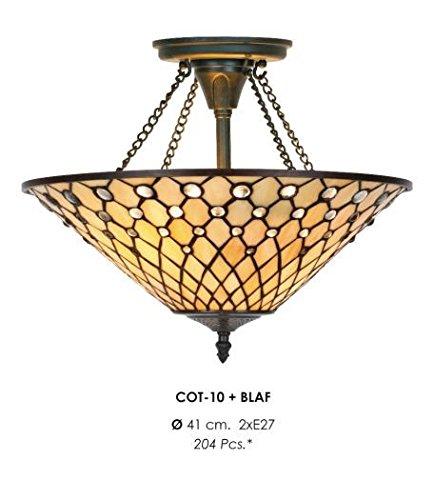 Casa Padrino Tiffany Deckenleuchte 41cm - Glas Mosaik Decken Lampe Leuchte Barock Restaurant...