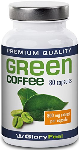 Green Coffee Bean Extract 1.600mg | High Strength Green Coffee Capsules + Vitamin C | 1600mg Pure Green Coffee Powder (50% Chlorogenic Acids) per Serving - 80 Vegan Caps Test