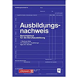 Brunnen Training Certificate A4 Blank 28 Pages White
