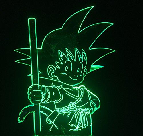 Kinderzimmer-Dekoration, 3D-Illusion, Cartoon, sieben Drachenku-Form, USB, LED-Tischlampe, 7 Farbwechsel, Touch-Schalter, Nachtlicht