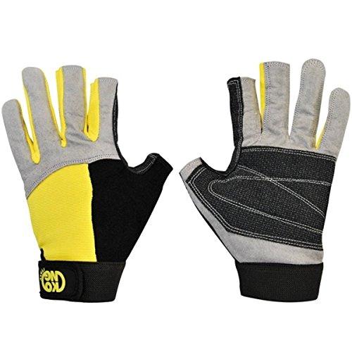 Kong Alex, Gloves, Gris/Negro/Amarillo, L