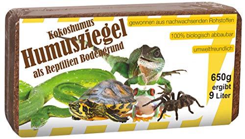 Humusziegel Kokos Einstreu Reptilien Bodengrund, ca. 50 Liter, 6 x 650 g
