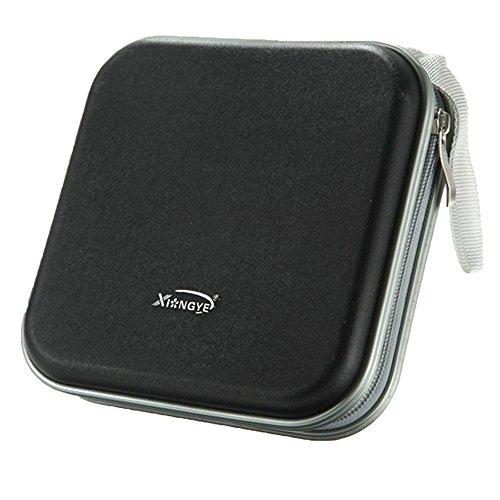 PRIMI Tragbare CD-/DVD-Wallet Storage Bag Case (schwarz) (Dvd Aufbewahrung Reißverschluss-tasche)