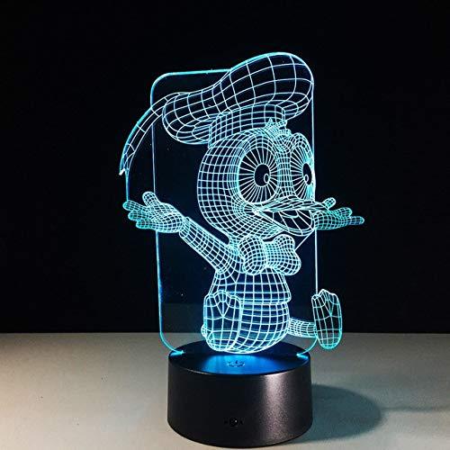 (Klsoo 3D Donald Duck Lampe 7 Farbe Led Nachtlampen Für Kinder Touch Led Usb Tabelle Baby Schlafen Nachtlichter Sensor)