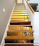 3D Zwielicht Blick aufs Meer 594 Stair Risers Dekoration Fototapete Vinyl Aufkleber Tapete DE Carly (15x H:18cm x W:94cm (7