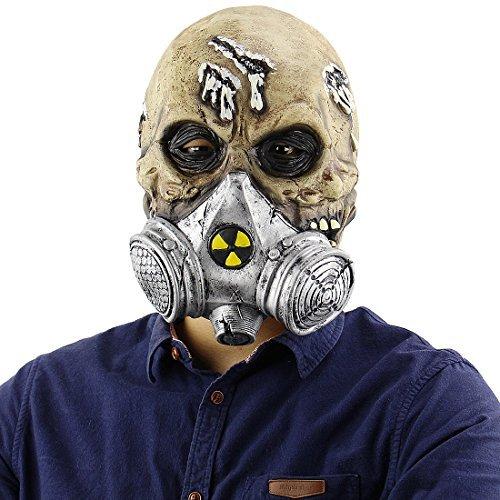 CJWLOY Halloween Latex Kopf Masken grausame Zombie Kostüm Cosplay Requisiten Gasmasken