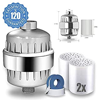 AQUALUTIO Best Shower Filter Multi-Stage by 2 Cartridge induced