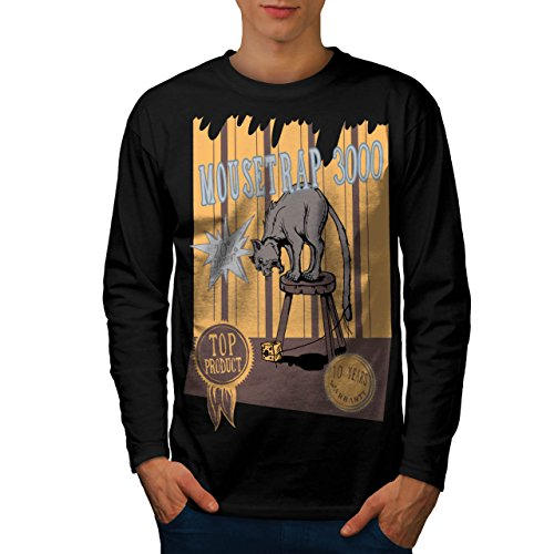 mouse-trap-cat-bait-cheese-lure-men-new-black-m-long-sleeve-t-shirt-wellcoda
